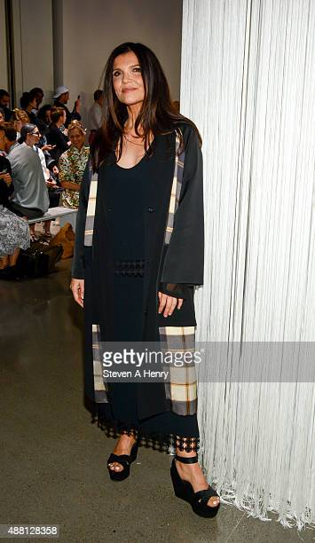 EDUN founder Ali Hewson attends Edun front row during Spring 2016 New York Fashion Week at Spring Studios on September 13 2015 in New York City