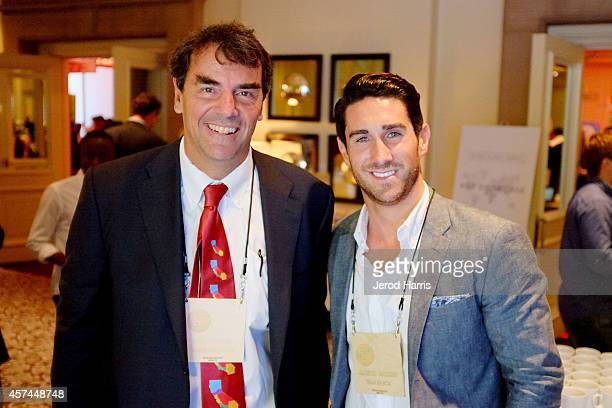 Founder and a Managing Director of 'Draper Fisher Jurvetson' Tim Draper and Global Summit Director of The Kairos Society Aaron Barker attend the 2014...