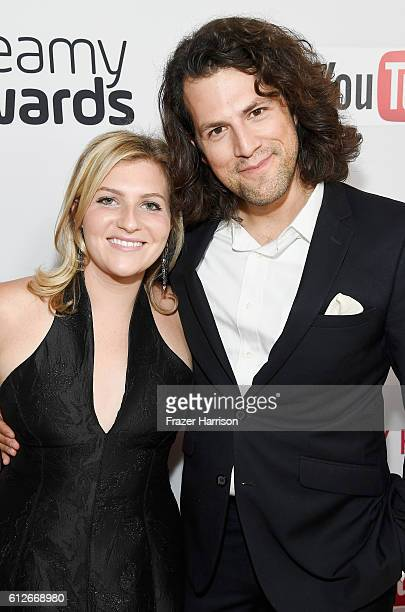 Founder and CEO at uBeam Meredith Perry and executive producer of the Streamy Awards Drew Baldwin attend the 6th annual Streamy Awards hosted by King...