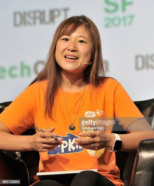Founder and CEO Cindy Mi speaks onstage during TechCrunch Disrupt SF 2017 at Pier 48 on September 20 2017 in San Francisco California