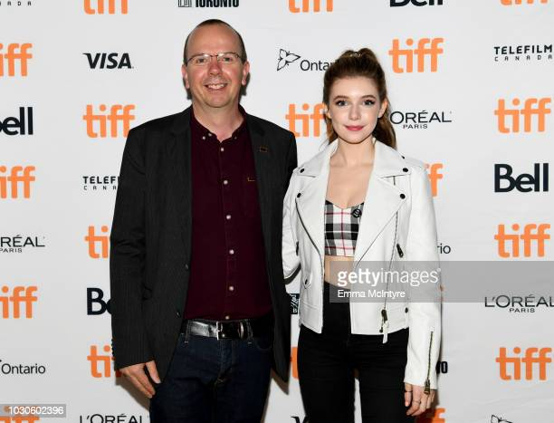 IMDB founder and CEO Col Needham and Eleanor WorthingtonCox attend TIFF 2018 Rising Stars Annual Power Break Luncheon on September 10 2018 in Toronto...