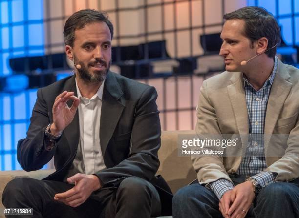 Founder and CEO Farfetch Jose Neves and CoFounder and CEO DraftKings Jason Robins discuss on 'It's lonely at the top The life of a leader' during the...