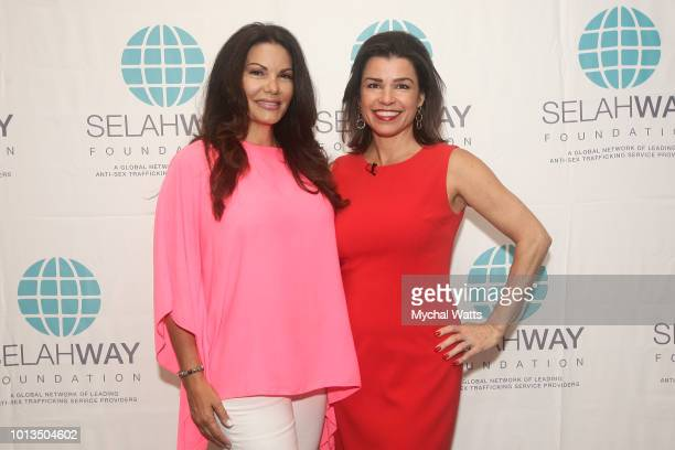 Founder and CEO Indra Public Relations MJ Pedone and cofounder of Selah Way Foundation Elizabeth Mendez Fisher attend the Selah Way Foundation...