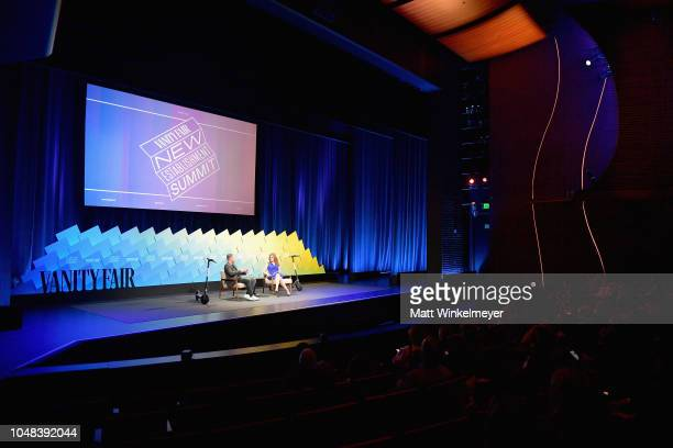 Founder and CEO of Bird Travis Vanderzanden and Senior Media and Entertainment Reporter at CNBC Julia Boorstin speak onstage at Day 1 of the Vanity...