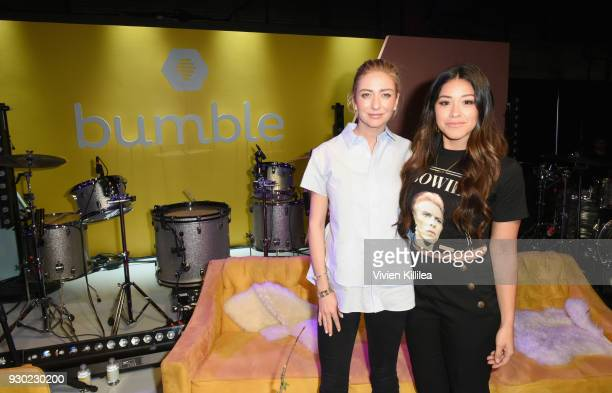 Founder and CEO of Bumble Whitney Wolfe and Gina Rodriguez attend Bumble Presents: Empowering Connections at Fair Market on March 10, 2018 in Austin,...