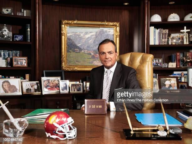 Founder and CEO of Caruso real estate development company Rick Caruso is photographed for Forbes Magazine on August 10 2018 at company's headquarters...