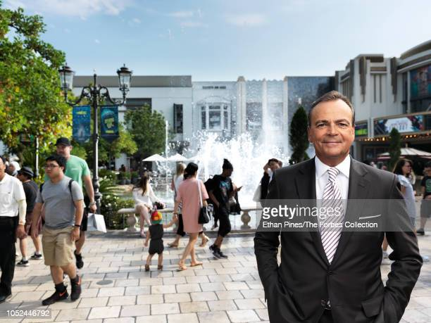 Founder and CEO of Caruso real estate development company Rick Caruso is photographed for Forbes Magazine on August 10 2018 at The Grove in Los...