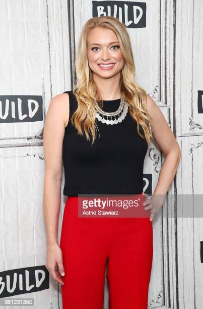 Founder and CEO of dating app The League Amanda Bradford visits Build Studio on June 22 2018 in New York City