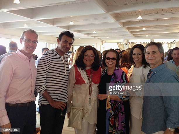 Founder and CEO of Gilt Groupe Kevin Ryan, Fern Mallis, Ann Moore, Haley Binn and Jason Binn pose during The Memorial Day Weekend Party hosted by...