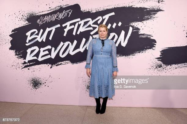 Founder and CEO of Girlgaze Amanda de Cadenet poses during Glamour Celebrates 2017 Women Of The Year Live Summit at Brooklyn Museum on November 13...