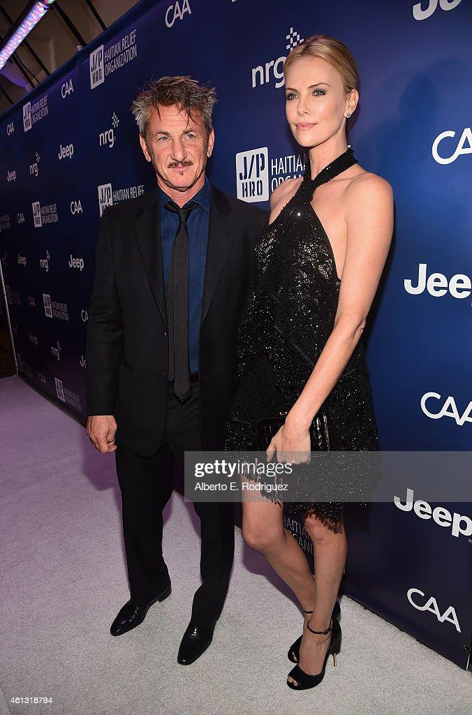Founder and CEO of J/P Haitian Relief Organization Sean Penn (L) and Charlize Theron attend the 4th Annual Sean Penn & Friends HELP HAITI HOME Gala Benefiting J/P Haitian Relief Organization on January 10, 2015 in Los Angeles, California.