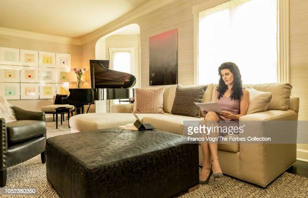 Founder and CEO of LVM Advisors Lori Van Dusen is photographed for Forbes Magazine on August 23 2018 at home in Pittsford New York PUBLISHED IMAGE...
