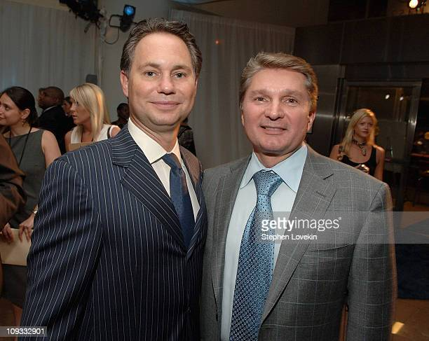 Founder and CEO of Niche Media Jason Binn and President of Manhattan Automobile Company Gary Flom at the Hamptons Magazine launch party for the new...