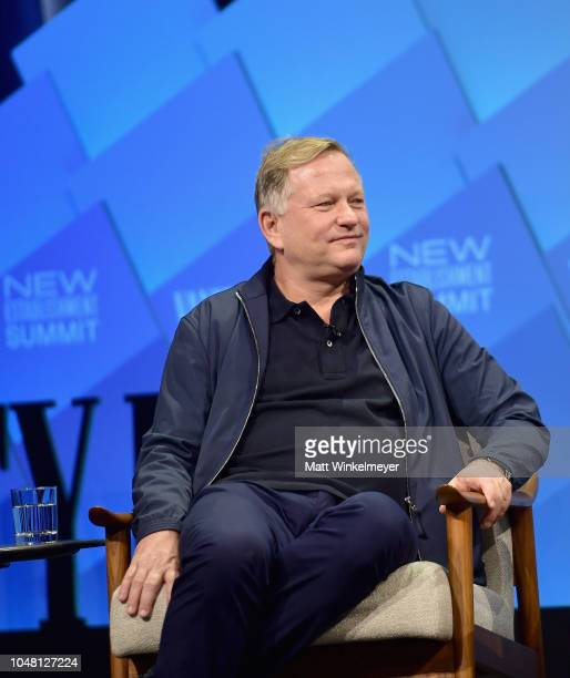 Founder and C.E.O. Of Soho House, Nick Jones speaks onstage at Day 1 of the Vanity Fair New Establishment Summit 2018 at The Wallis Annenberg Center...