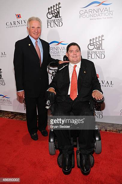 Founder and CEO of The Buoniconti Fund Nick Buoniconti and President of the Buoniconti Fund Marc Buoniconti attend the 29th Annual Great Sports...