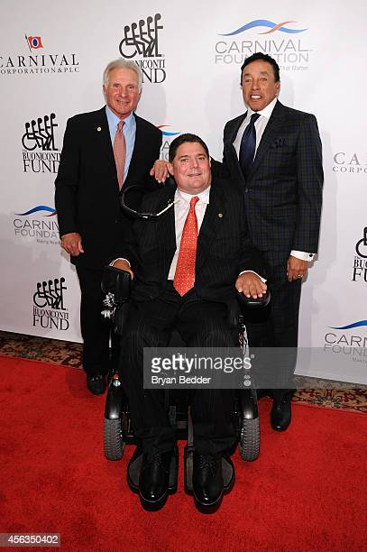 Founder and CEO of The Buoniconti Fund Nick Buoniconti President of the Buoniconti Fund Marc Buoniconti and singersongwriter Smokey Robinson attend...