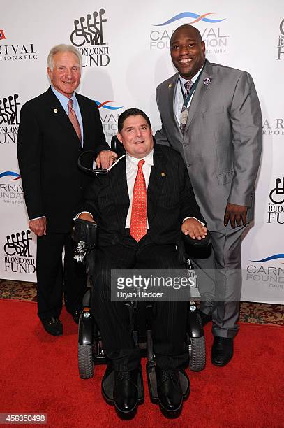 Founder and CEO of The Buoniconti Fund Nick Buoniconti President of the Buoniconti Fund Marc Buoniconti and former football player Warren Sapp attend...