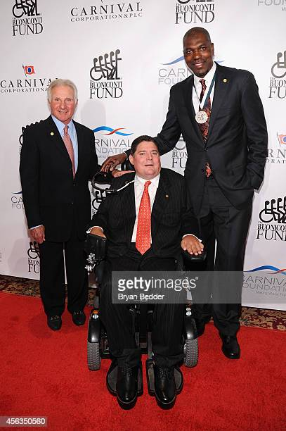 Founder and CEO of The Buoniconti Fund Nick Buoniconti President of the Buoniconti Fund Marc Buoniconti and former basketball player Hakeem Olajuwon...