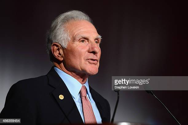 Founder and CEO of The Buoniconti Fund Nick Buoniconti speaks at the 29th Annual Great Sports Legends Dinner to benefit The Buoniconti Fund to Cure...