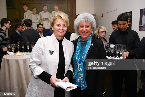 Founder and CEO of The International Culinary Center Dorothy Cann Hamilton poses with NYU professor of Nutrition Food Studies and Public Health...