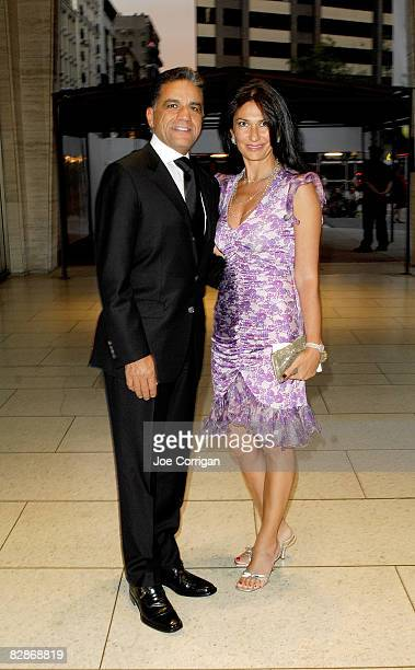 Founder and CEO of the Moinian Group Joseph Moinian and wife Nazee Moinian attends the opening night gala for the New York Philharmonic at Avery...