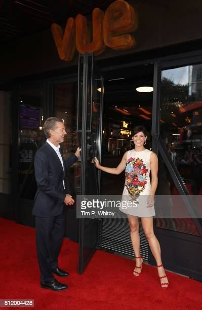 Founder and CEO of Vue International Tim Richards and British film star Gemma Arterton attend opening night celebrating the £66m relaunch of Vue's...