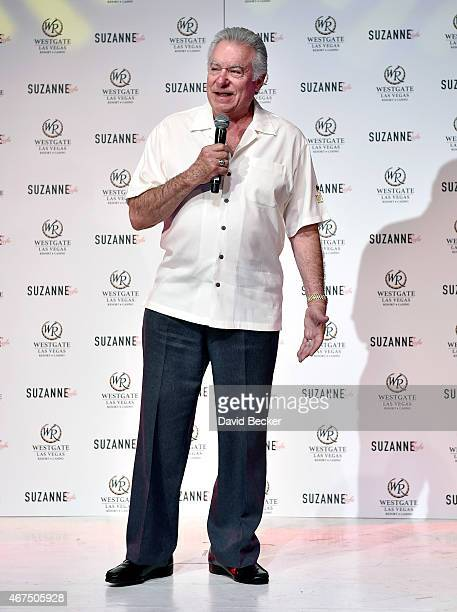 Founder and CEO of Westgate Resorts David Siegel speaks at a news conference announcing Suzanne Somers' new residency Suzanne Sizzles at the Westgate...