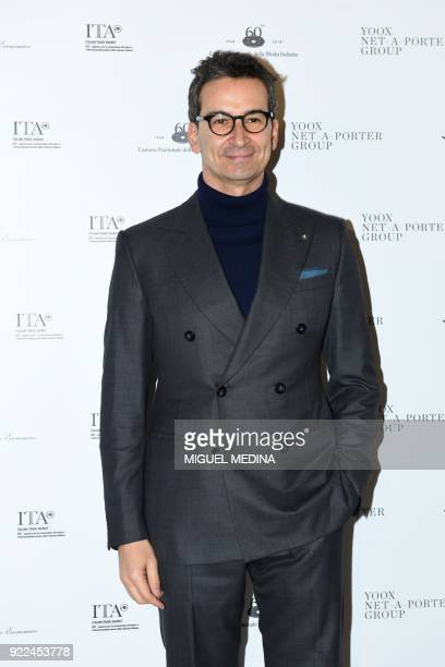 Founder and CEO of Yoox Federico Marchetti poses upon the arrival to the exhibition preview of Italiana Italy Through the Lens of Fashion at Palazzo...