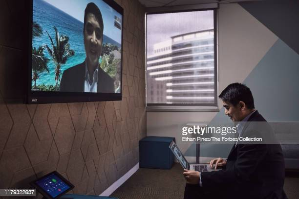 Founder and CEO of Zoom Eric Yuan is photographed for Forbes Magazine on April 2 2019 in San Jose California CREDIT MUST READ Ethan Pines/The Forbes...