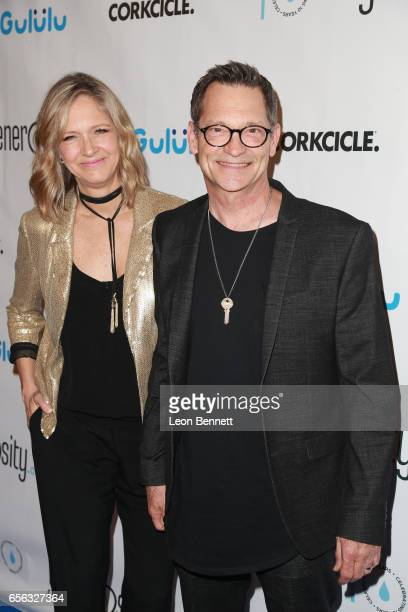 Founder and CEO Philip Wagner of Generosityorg and Holly Wagner arrives at the Generosityorg Fundraiser For World Water Day at the Montage Hotel on...