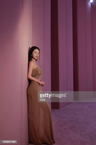 Founder and CEO Wendy Yu of Yu Holdings and YUMEE attends FENDI 2021 Spring/Summer Haute Couture Fashion Show on March 19, 2021 in Shanghai, China.