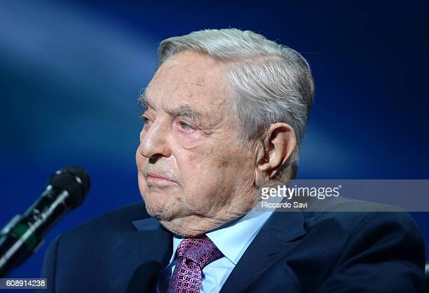Founder and Chair Soros Fund Management and the Open Society Foundations George Soros attends 2016 Concordia Summit Day 2 at Grand Hyatt New York on...
