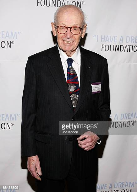 Founder and Chairman Emeritus Eugene M. Lang attends the 2009 I Have a Dream Foundation spring gala at 583 Park Avenue June 11, 2009 in New York City.