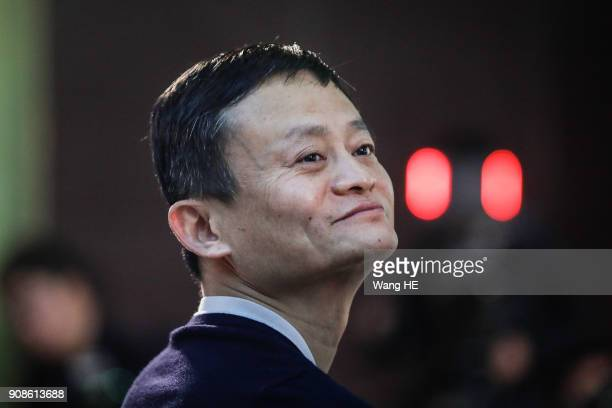 Founder and Chairman of Alibaba Group Jack Ma present at the 'Ma Yun Rural Teachers Prize' awards show on January 22 2018 in Sanya Hainan province...