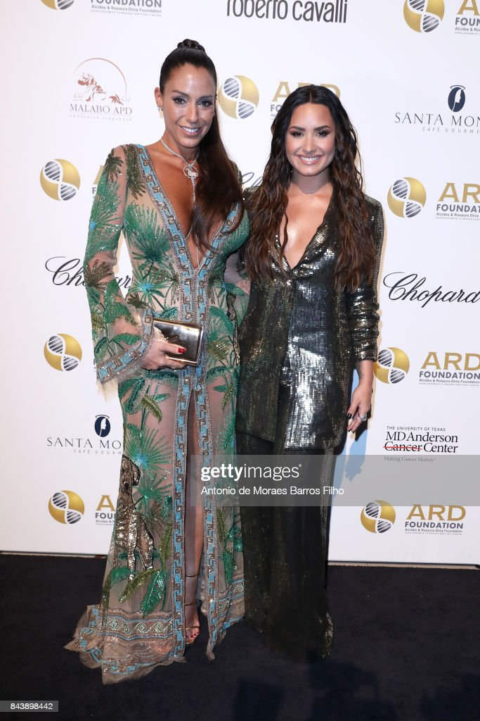 Founder and Chairman of ARD Foundation, Ana Paola Diniz and Demi Lovato attend the Alcides & Rosaura (ARD) Foundations' 'A Brazilian Night' to Benefit Memorial Sloan Kettering Cancer Center (MSK) at Cipriani 42nd Street on September 7, 2017 in New York City.