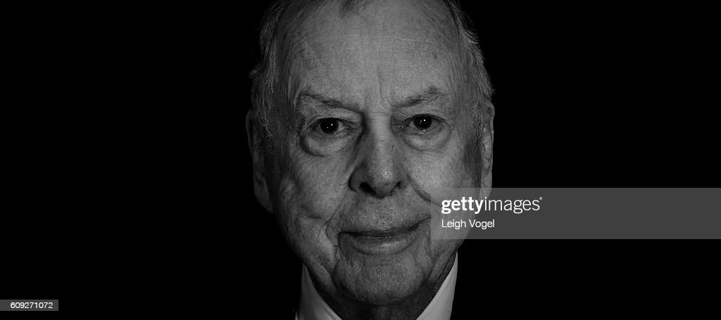 Founder and Chairman of BP Capital T. Boone Pickens poses for a portrait during the 2016 Concordia Summit, where world leader convene to discuss the power of partnerships, at Grand Hyatt New York on September 19, 2016 in New York City.