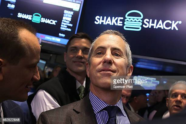 Founder and Chairman of Shake Shack, Danny Meyer, visits the floor of the New York Stock Exchange on January 30, 2015 in New York City. Hamburger...