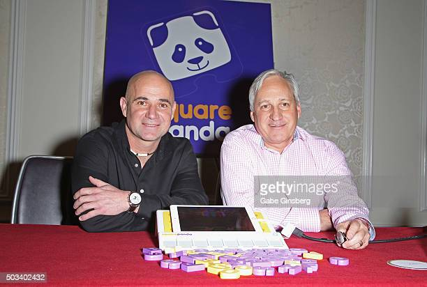 Founder and Chairman of the Andre Agassi Foundation for Education Andre Agassi and CEO of Square Panda Andy Butler announce a partnership as they...