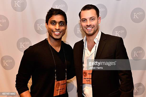 Founder and Chairman of the Kairos Society Ankur Jain and cofounder of HUMIN Jake Medwell attend the 2014 Kairos Global Summit at RitzCarlton Laguna...
