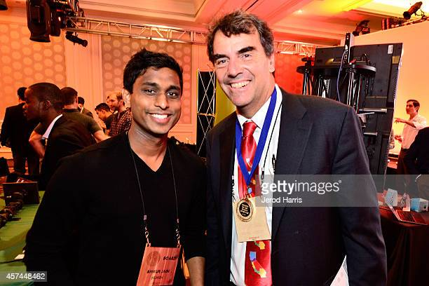 Founder and Chairman of the Kairos Society Ankur Jain and Founder and Managing Director of 'Draper Fisher Jurvetson' Tim Draper attends the 2014...