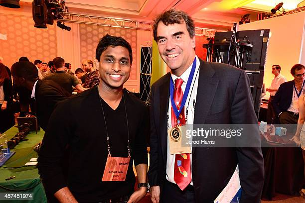 Founder and Chairman of the Kairos Society Ankur Jain and Founder and Managing Director of 'Draper Fisher Jurvetson' Tim Draper attend the 2014...