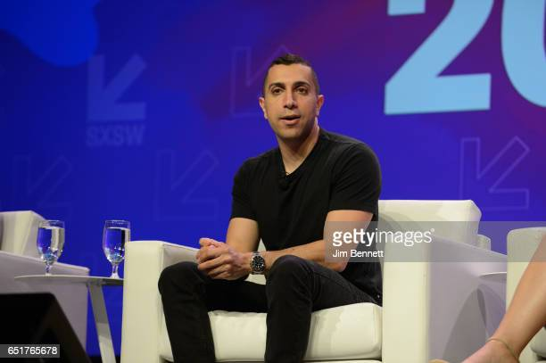 Founder and chairman of Tinder Sean Rad participates in a panel discussion on transgender justice at the SxSW Interactive Festival at the Austin...