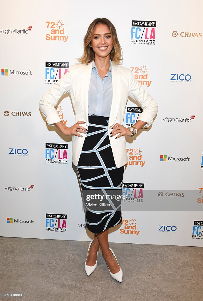Founder and Chief Creative Officer of The Honest Company Jessica Alba attends Fast Company Hosts First-Ever LA Creativity Counter Conference at 72andSunny on May 7, 2015 in Los Angeles, California.