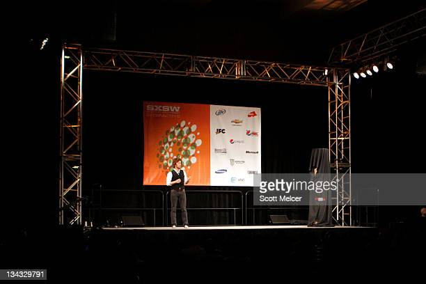 Founder and Chief Shoe Giver of TOMS Shoes Blake Mycoskie speaks at the 2011 SXSW Music Film Interactive Festival Keynote Blake Mycoskie at the...