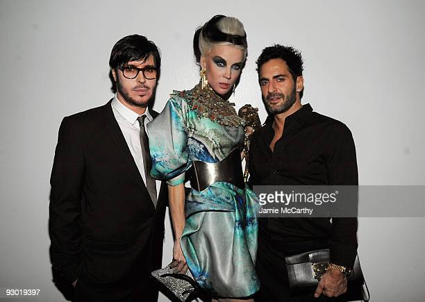NARS Founder and Creative Director Francois Nars Daphne Guinness and designer Marc Jacobs attend the launch of NARS 15X15 a project to celebrate 15...