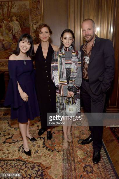 Founder and Creative Director Hanako Maeda Maggie Gyllenhaal Salina Kunikida and Peter Saarsgard attend the Adeam Spring/Summer 2020 Dinner on...