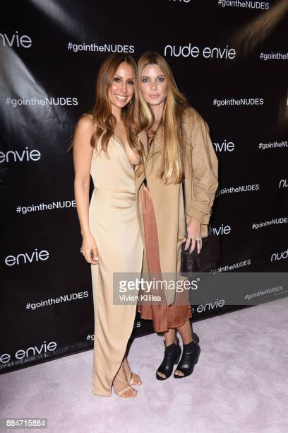 Founder and creative director of Nude Envie Isabel Madison and Rachel Anise Wegter attend Nude Envie Holiday/Launch Party Launching New Shades on...