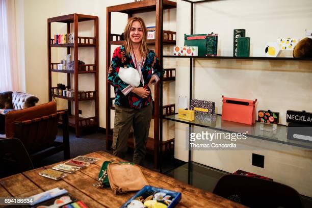 Founder and designer Brett Heyman attends the Edie Parker Resort 2018 Presentation in their new showroom on June 9, 2017 in New York City.