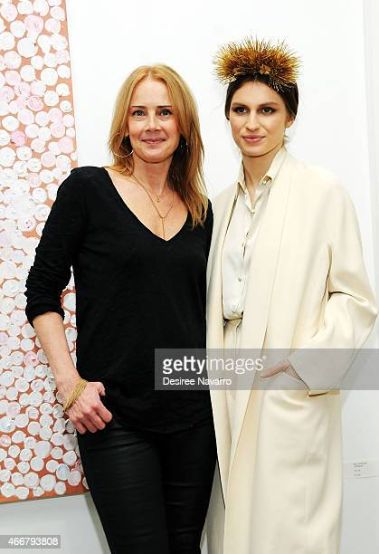 Founder and director Catherine Ahnell and artist Tali Lennox attend Tali Lennox Exhibition Opening Reception at Catherine Ahnell Gallery on March 18...