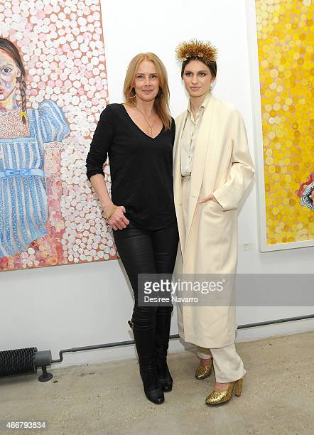 Founder and director Catherine Ahnell and artist Tali Lennox attend Tali Lennox Exhibition Opening Reception at Catherine Ahnell Gallery on March 18,...